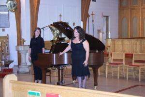 Pianist Diane Bestvater and Soprano Anastasia Winterhalt